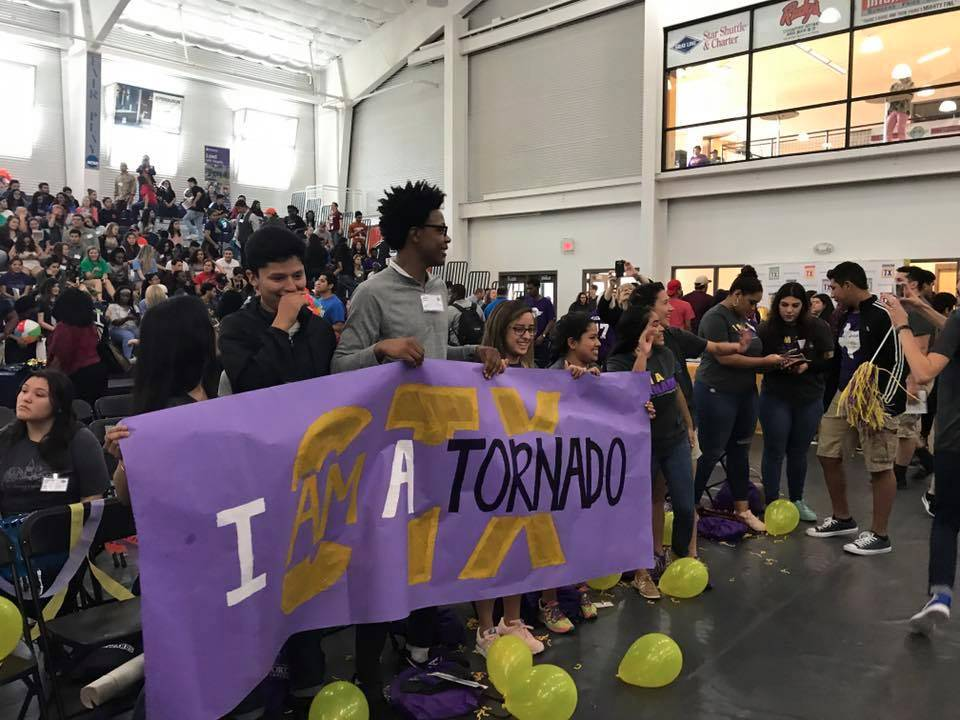 The community pep rally attracted students across Central Texas.