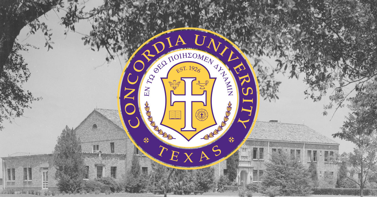The Concordia University Texas seal