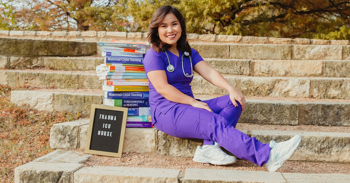 Elaene Mae Abella is a first-gen nursing student