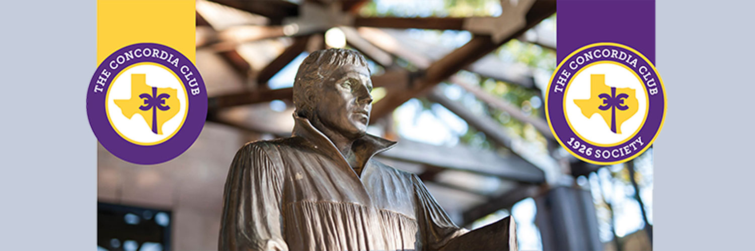 Luther statue on CTX campus