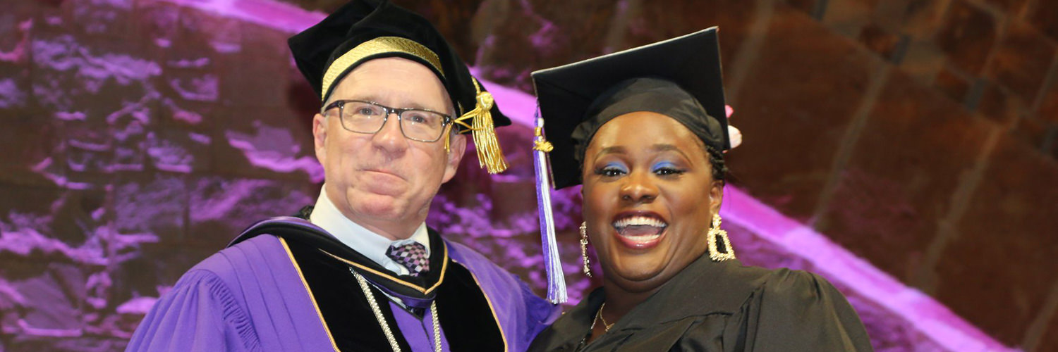 Dr. Don Christian and Student at CTX 2019 Spring Commencement