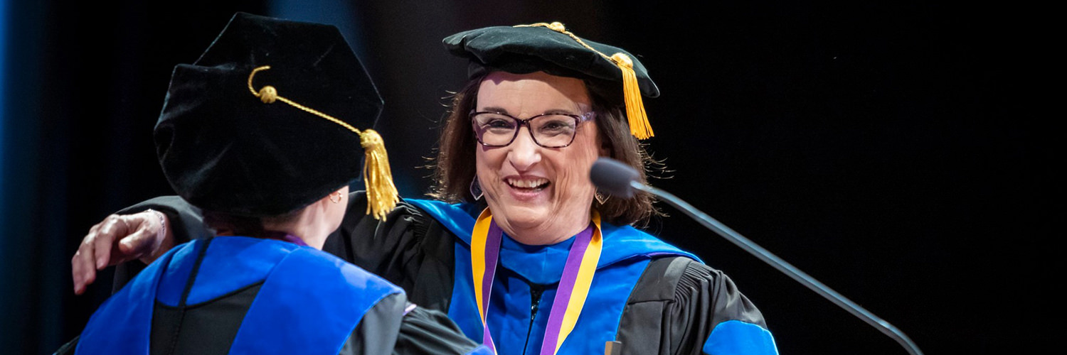 Dr. Joanne Antrim at CTX 2019 Spring Commencement