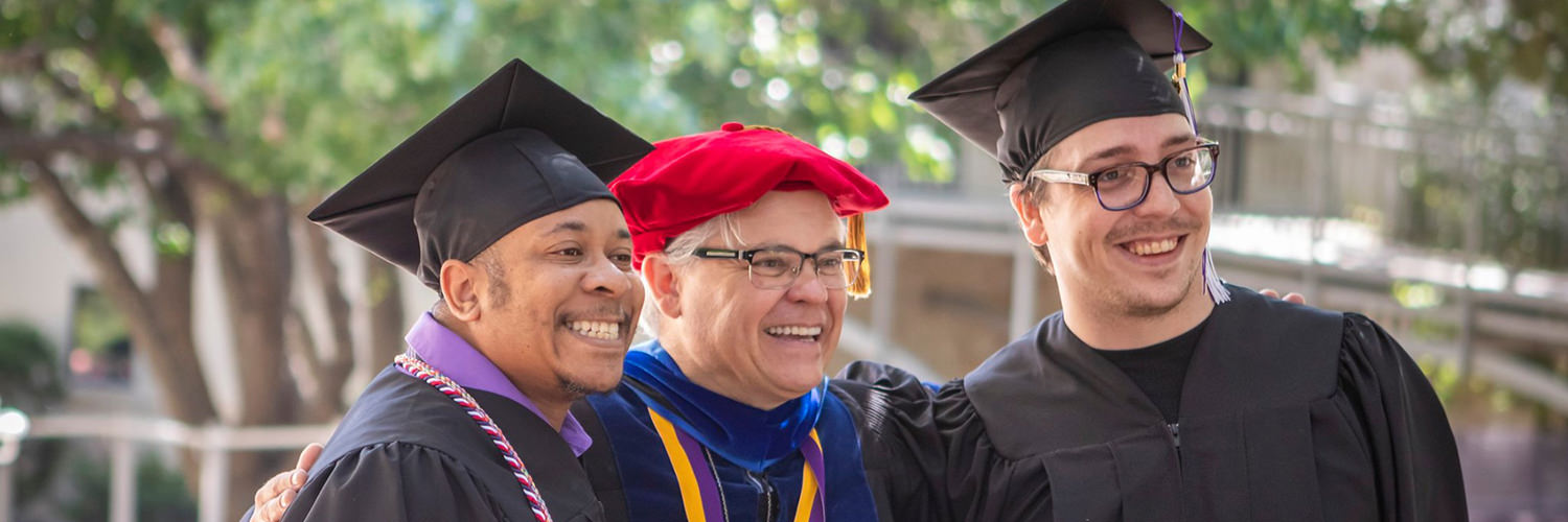 Dr. Carl Trovall and Students On Spring 2019 Commencement Day