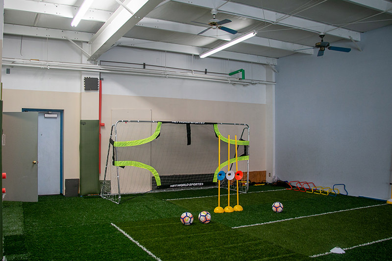 Inside of First Touch Soccer Academy