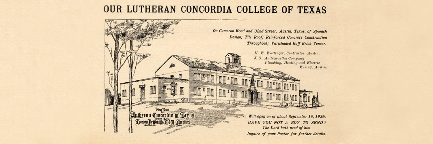 Lutheran Concordia College of Texas Ad